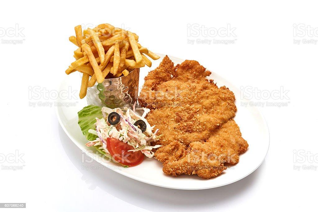 wiener schnitzel stock photo