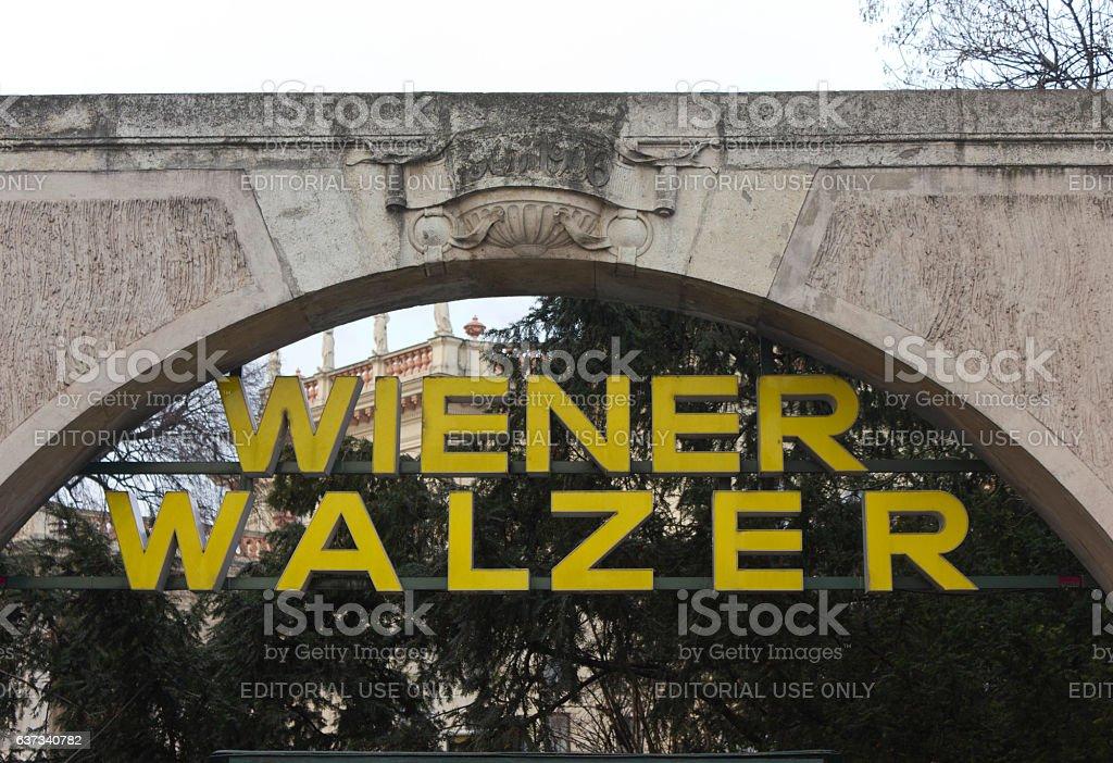 Wiener Walzer outside Kursalon park in Vienna stock photo