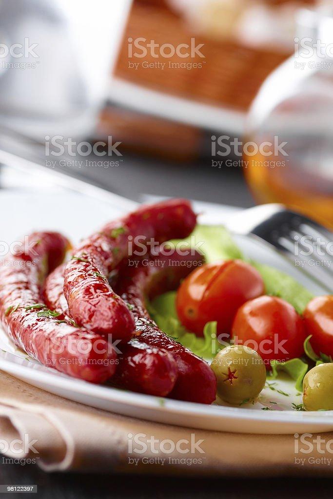 Wienerwurst foto stock royalty-free