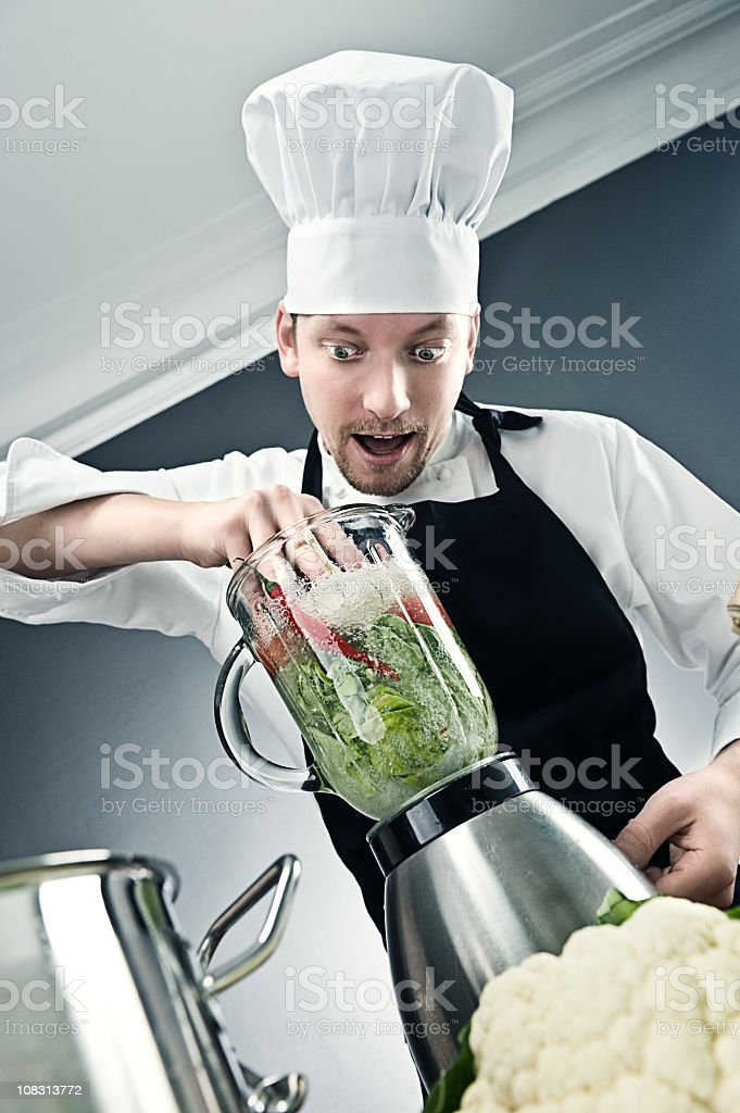 Wierd chef with mixer royalty-free stock photo