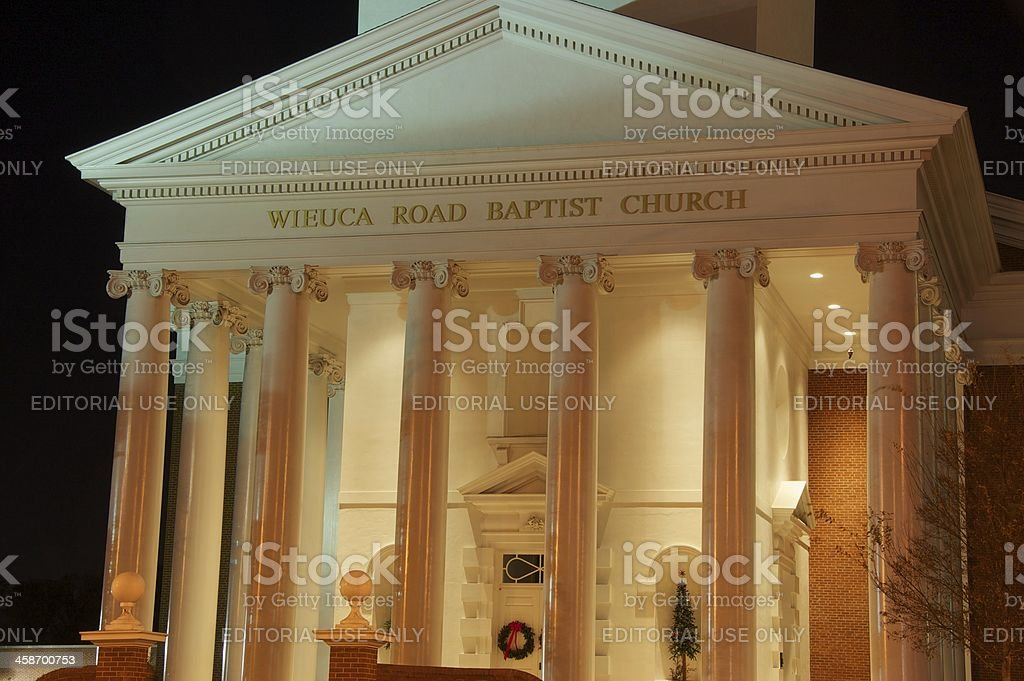 Wieuca Road Baptist Church in Buckhead Atlanta stock photo