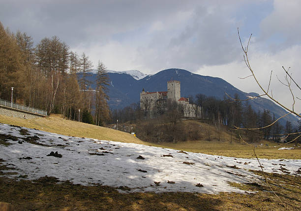 Wiew on Castle  bruneck stock pictures, royalty-free photos & images