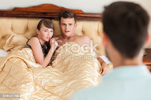 istock Wife Caught In Bed With Lover 528422766