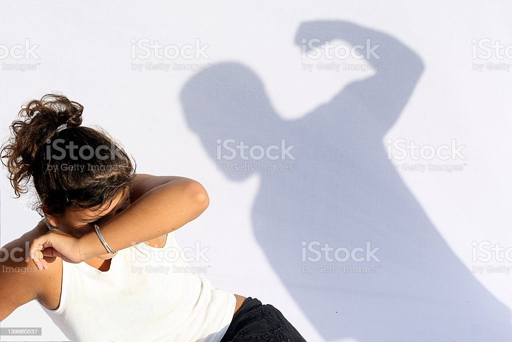 wife or child abuse, family social issues stock photo