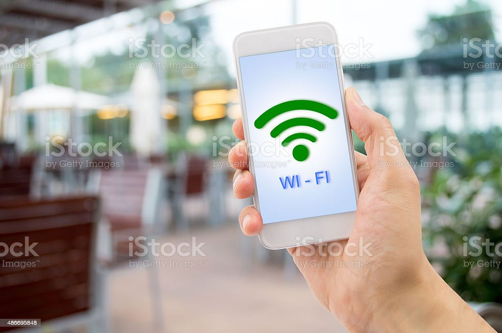 wifi at the bar stock photo
