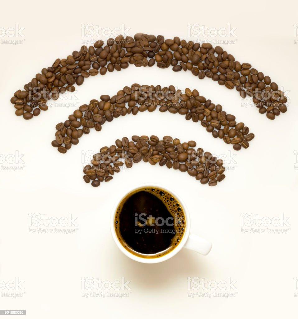 Wi-fi coffee. royalty-free stock photo