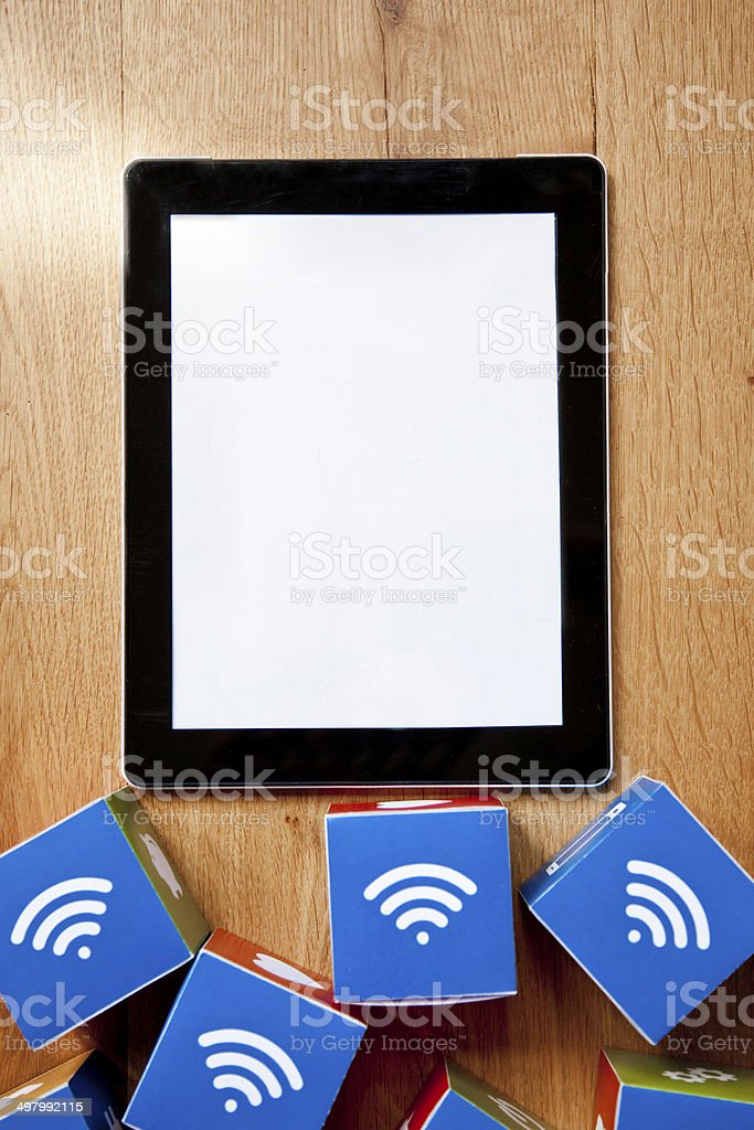 Wifi digital tablet royalty-free stock photo