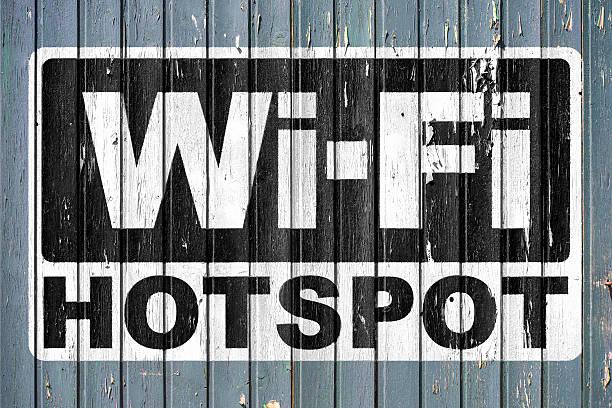 wi-fi-hotspot - iphone gratis stock-fotos und bilder