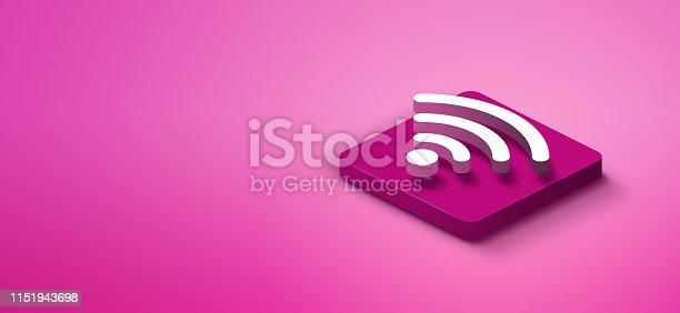 1155191162istockphoto 3D wifi icon 1151943698