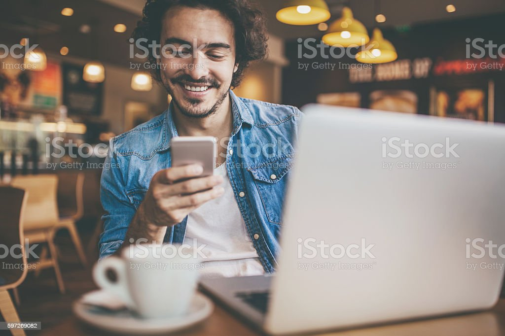 Wi-fi in the restaurant royalty-free stock photo