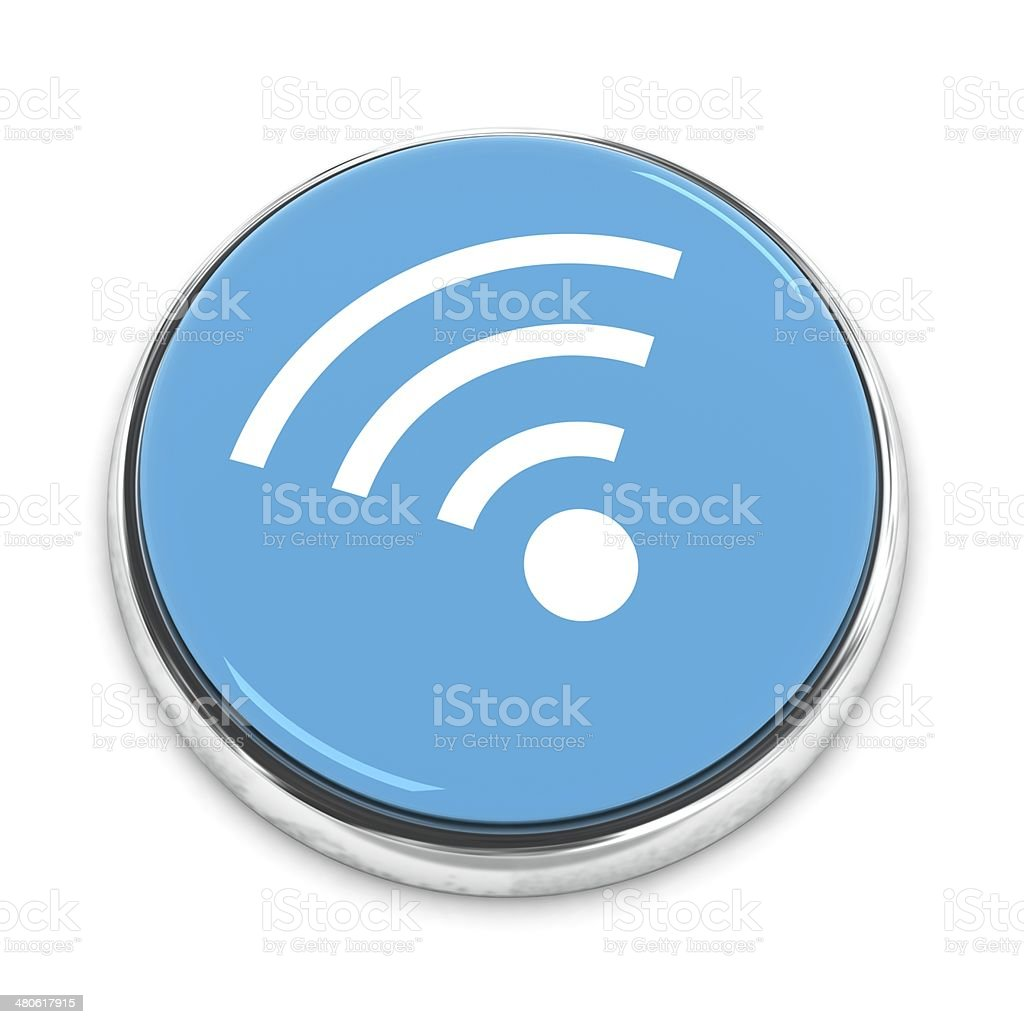 Wifi internet connection button royalty-free stock photo
