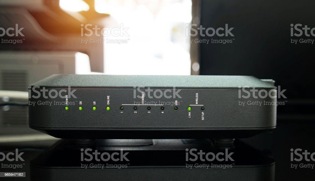 WiFi router - Royalty-free Apparatuur Stockfoto