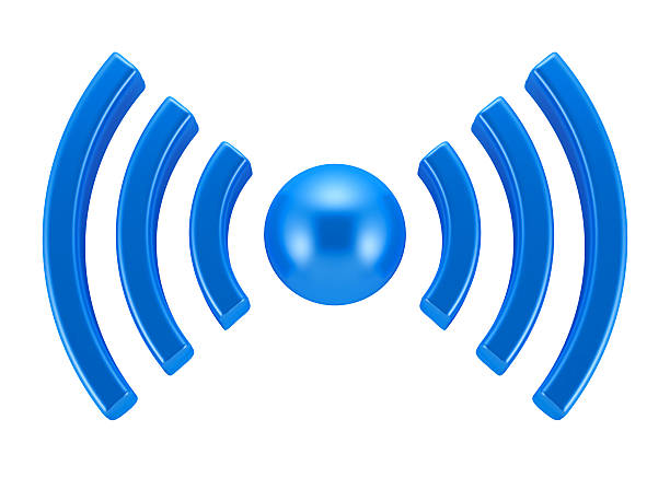 wifi symbol - wave icon stock photos and pictures