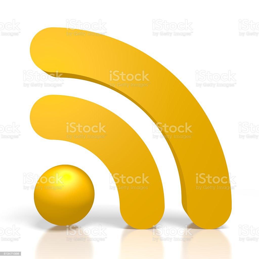 3D WiFi symbol stock photo