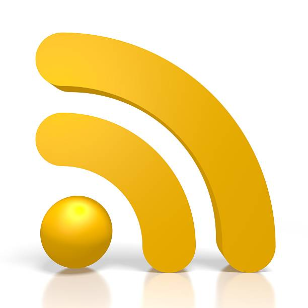 3d wifi symbol - wave icon stock photos and pictures