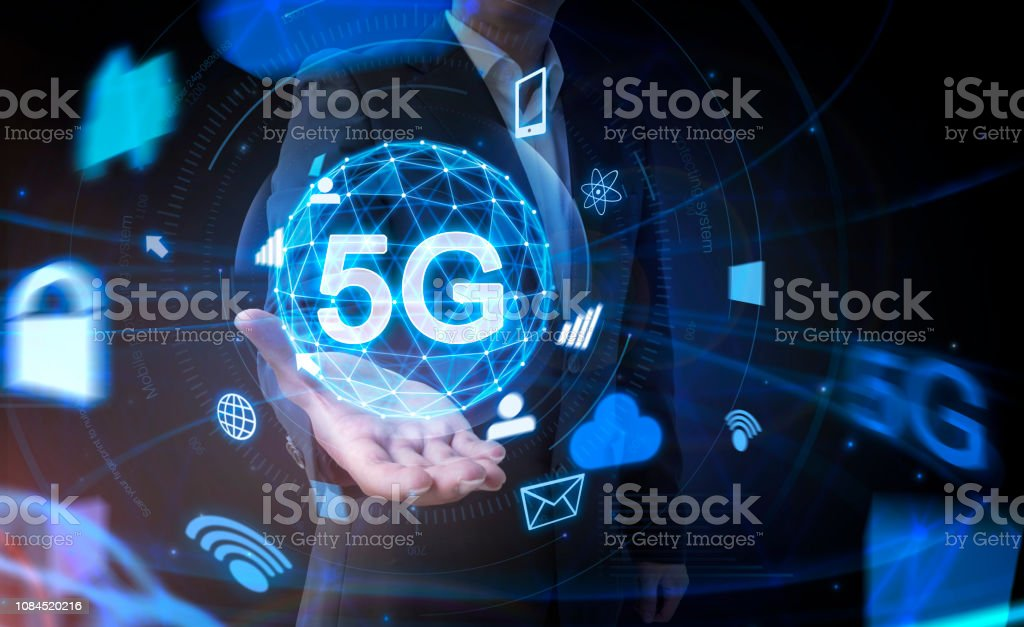 5G wifi technology concept - Royalty-free 5G Stock Photo