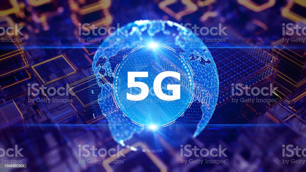 5G wifi technology digital concept foto stock royalty-free