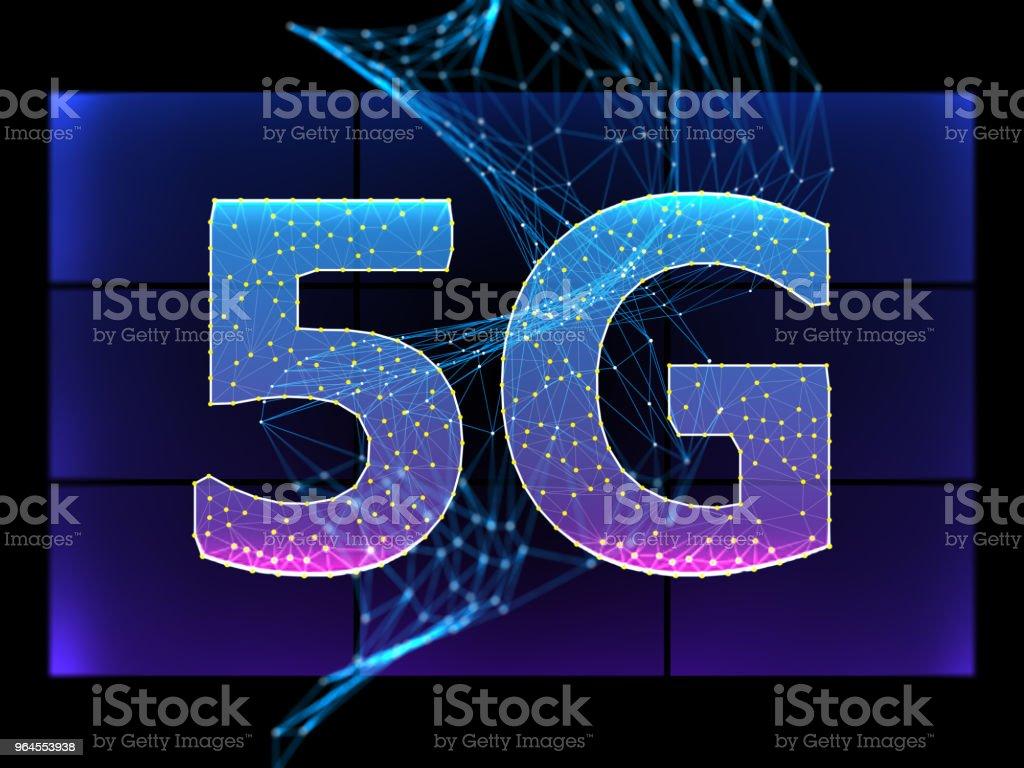 Concept numérique technologie wifi de 5G - Photo