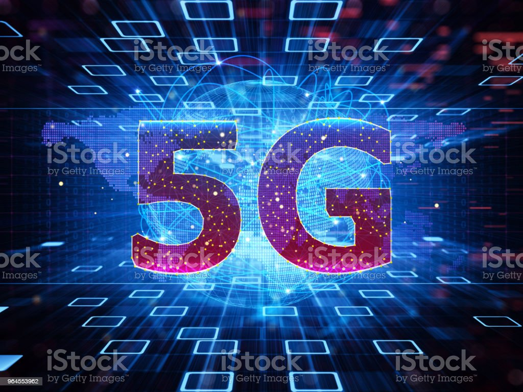 5G wifi technology digital concept - Foto stock royalty-free di 5G