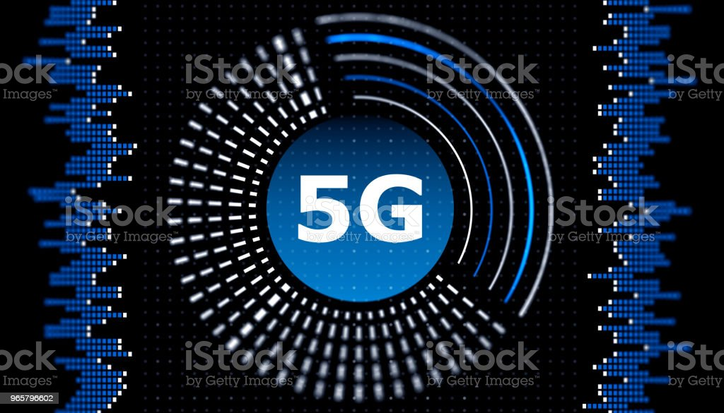 5G wifi technology digital concept - Royalty-free 5G Stock Photo