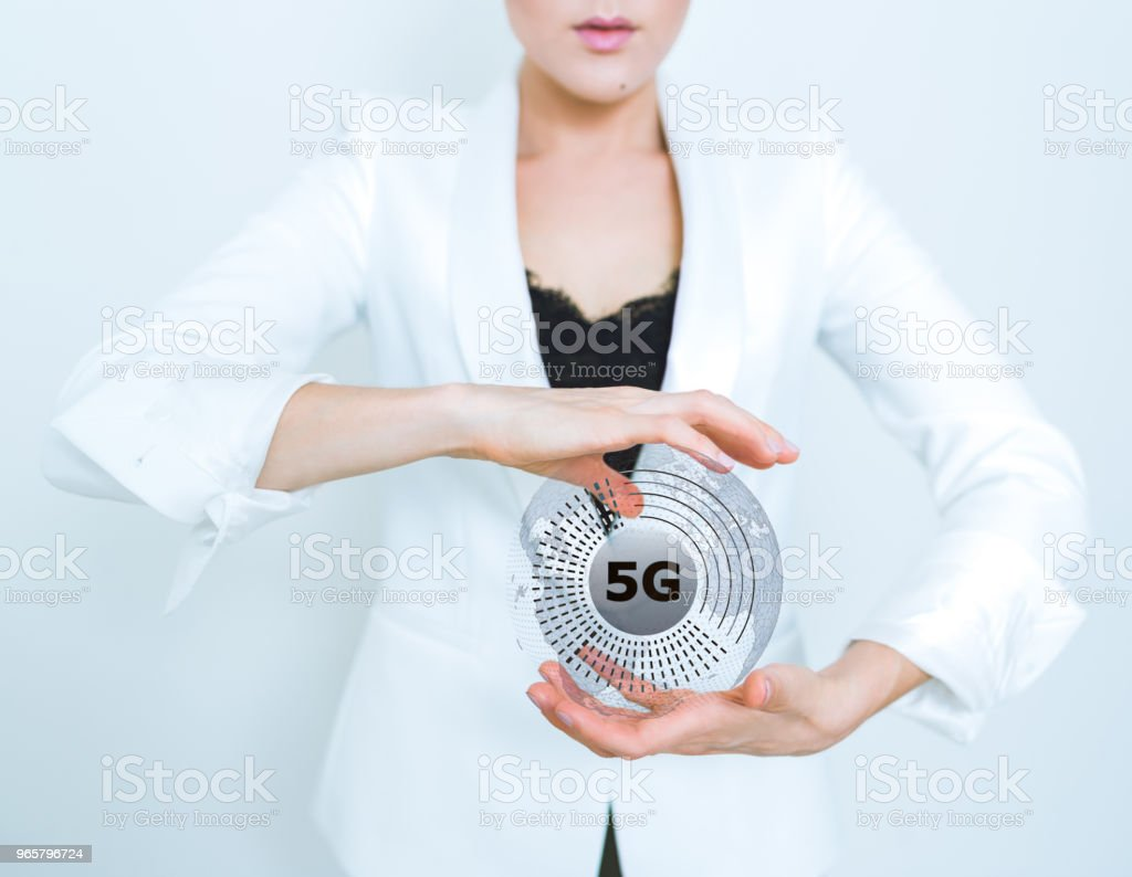 5G wifi technologie digitale concept - Royalty-free 5G Stockfoto