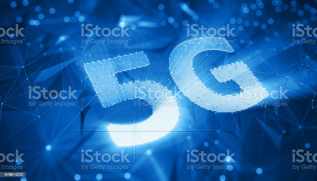 5G wifi technology digital concept stock photo