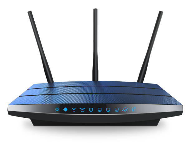 wi-fi wireless internet router - router foto e immagini stock