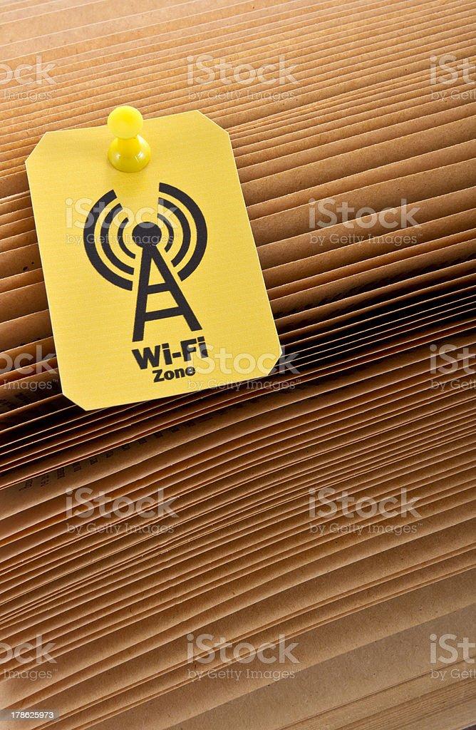 Wi-fi zone label royalty-free stock photo