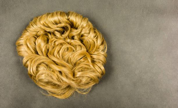 Hasta için peruk. stok fotoğrafı