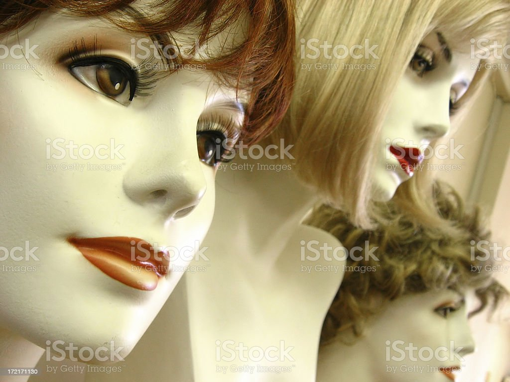wig models 3 royalty-free stock photo