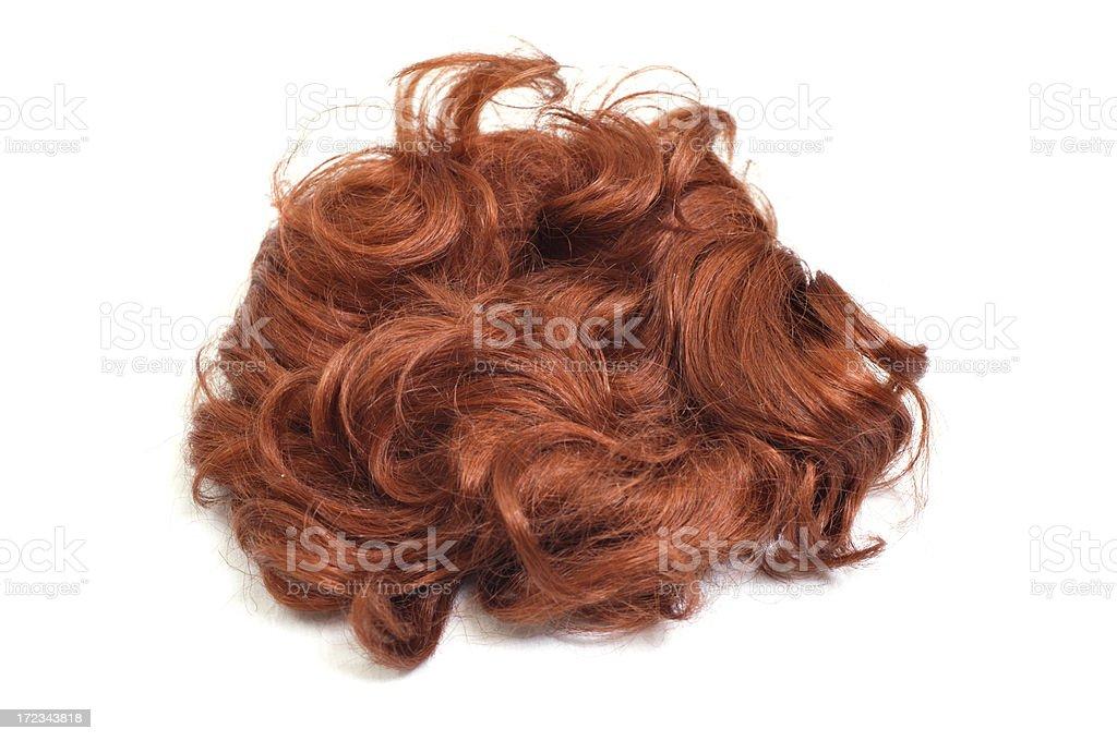 Wig (isolated) stock photo