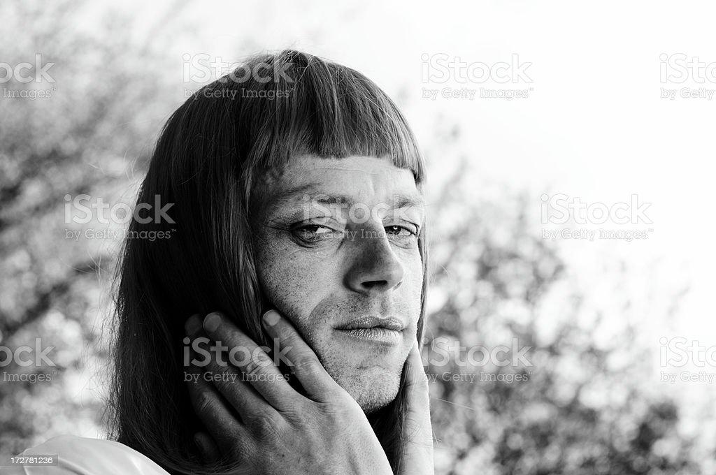 wig queen stock photo