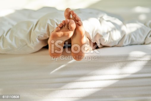 istock Wiggling toes of wakefulness 615110808