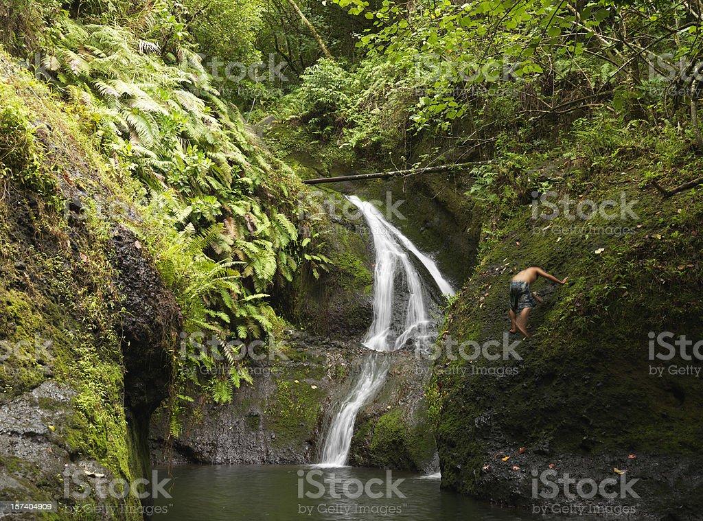 Wigmore's Papua Waterfall Rarotonga Cook Islands stock photo
