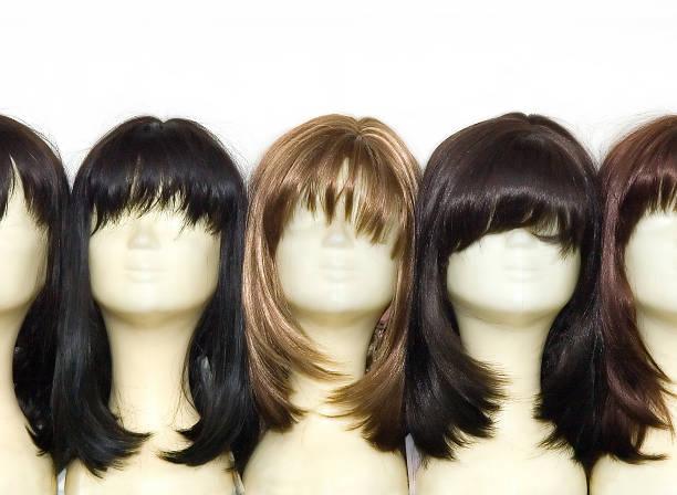 wigs 헤드 - 가발 뉴스 사진 이미지