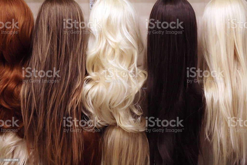 Wigs Set stock photo