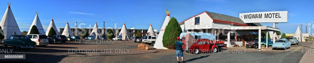 Wigwam Motel on historic route 66. stock photo