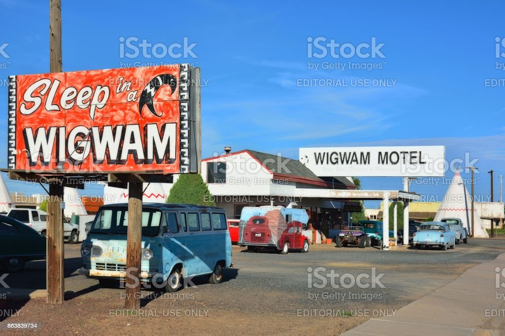 Wigwam Motel on historic route 66 stock photo