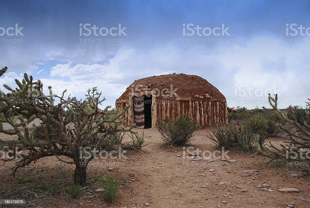 Wigwam, Native American stock photo