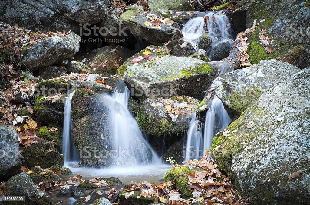 Wigwam Waterfalls in the Blue Ridge Mountains royalty-free stock photo