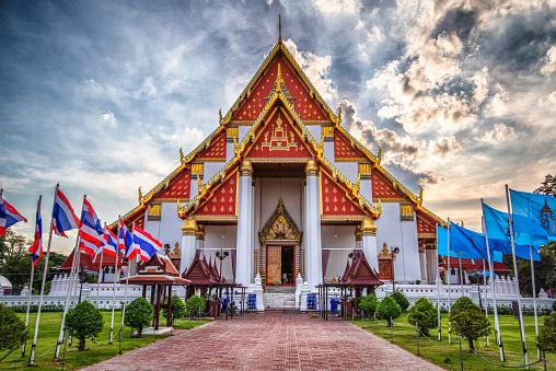 Ayutthaya Wihan Phra Mongkhon Bophit Tapınağı Tayland Stok Fotoğraflar & Antik'nin Daha Fazla Resimleri