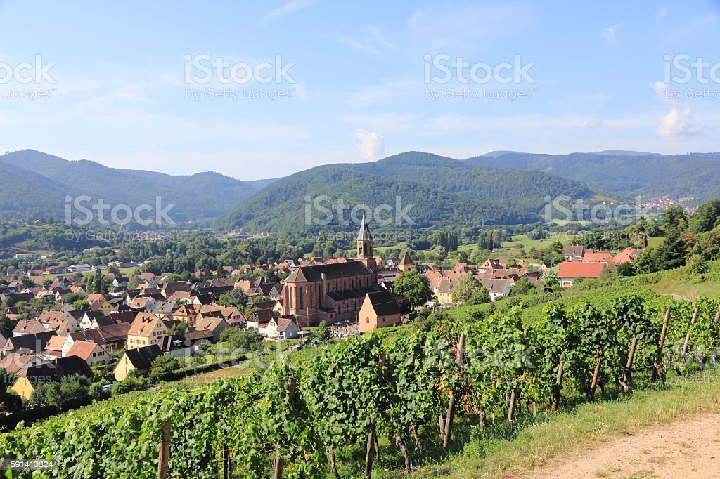 Wihr-au-Val, village of Alsace - foto stock