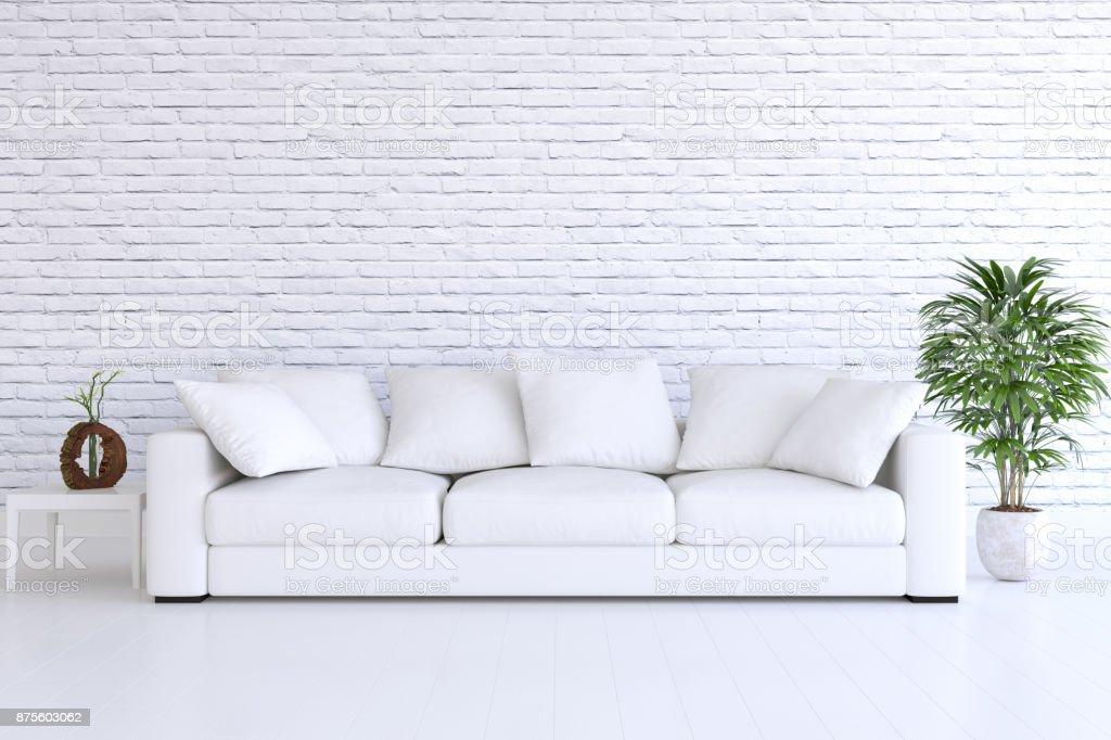 Je Wohnraum, Mauer und Parkettboden – Foto
