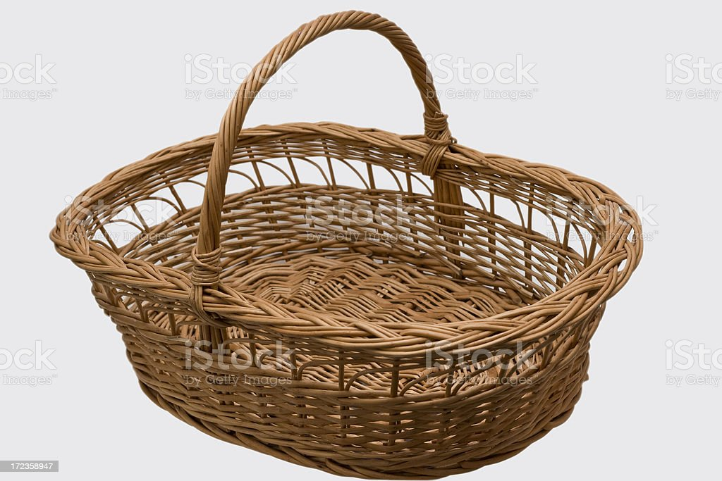 wiker basket royalty-free stock photo