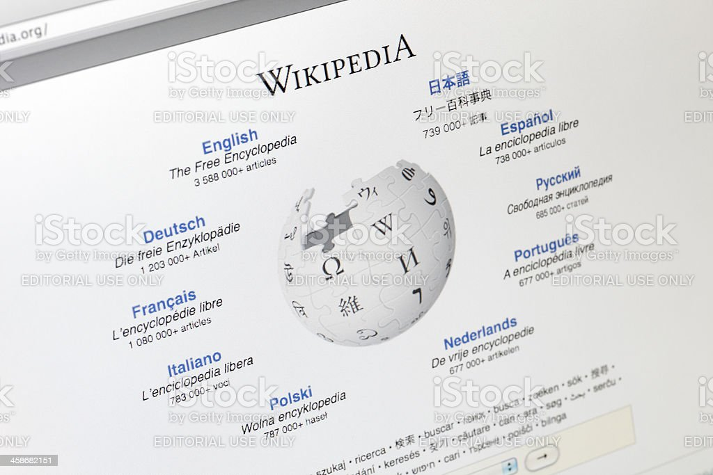 Wikipedia Homepage Stock Photo - Download Image Now - iStock