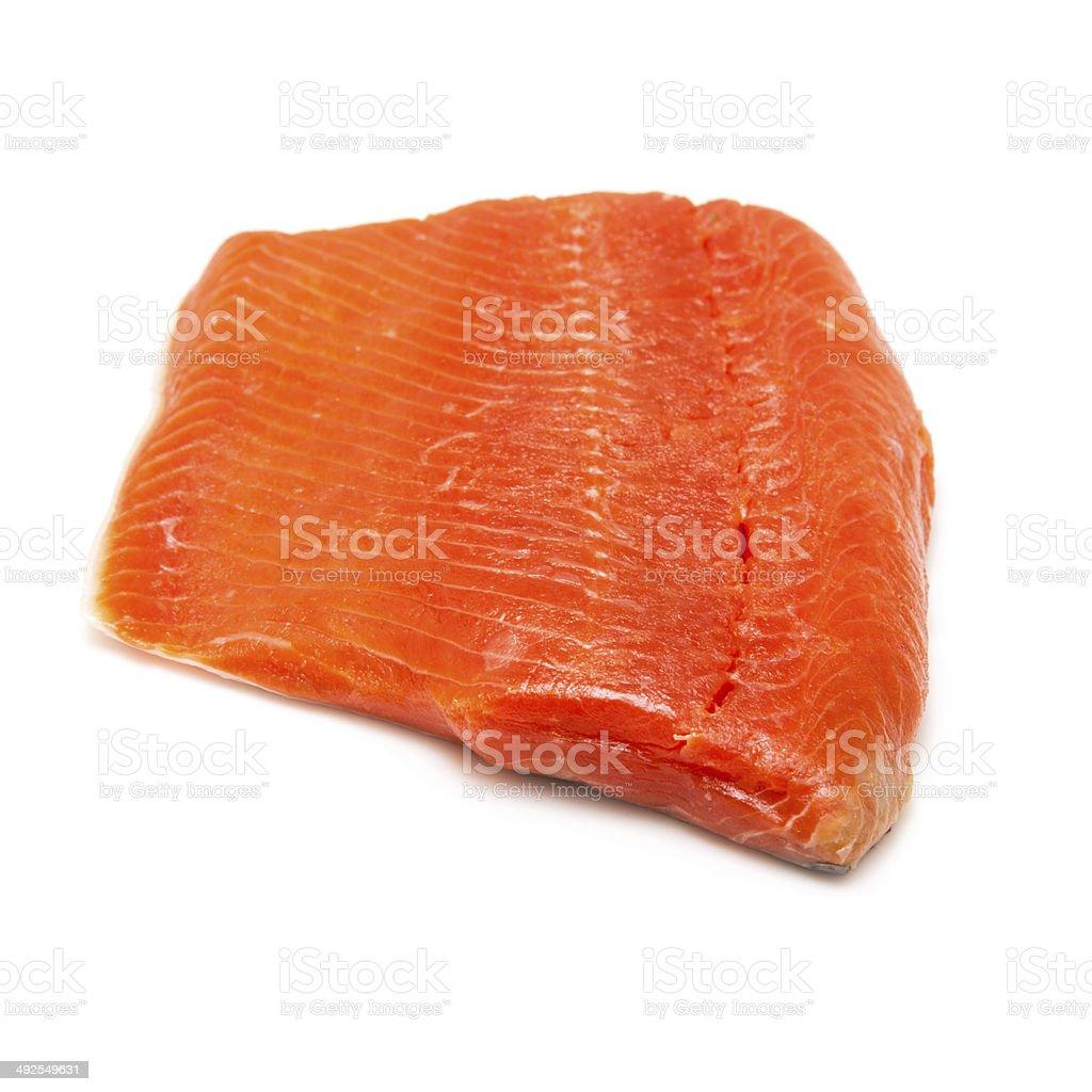Wild Alaskan Sockeye or Coho Salmon fillet. stock photo