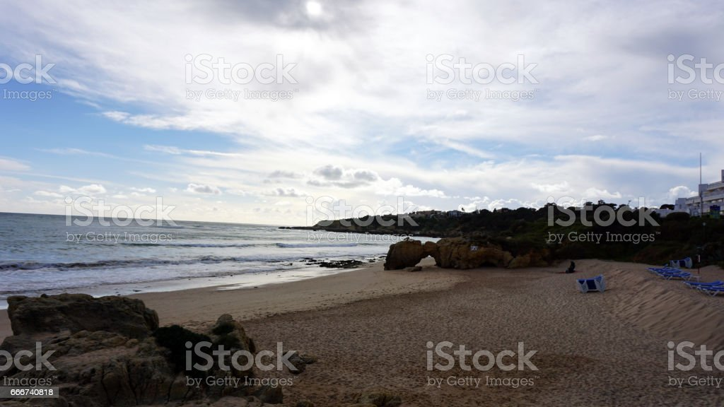 wild algarve coast foto stock royalty-free