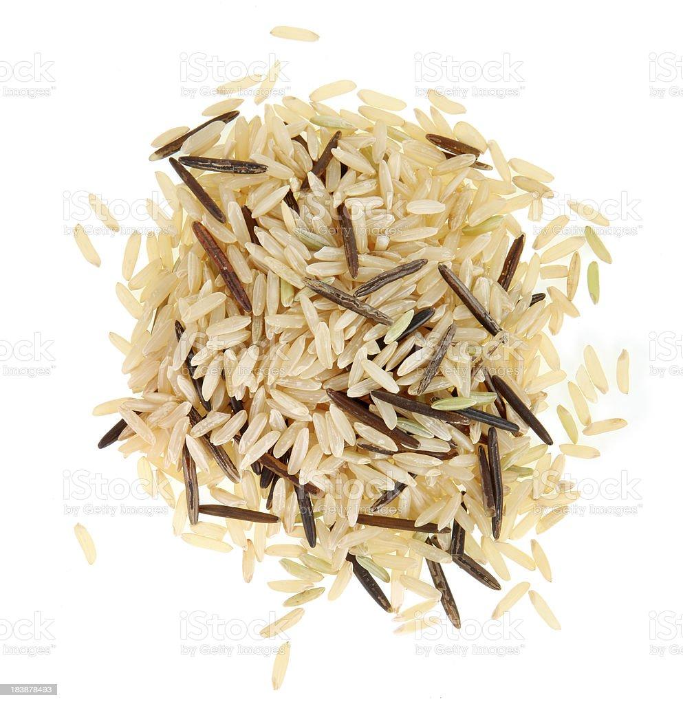 Wild and Brown Rice stock photo