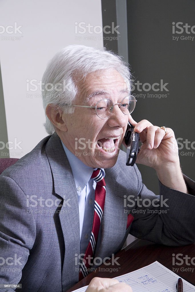 Wild and Crazy Businessman royalty-free stock photo