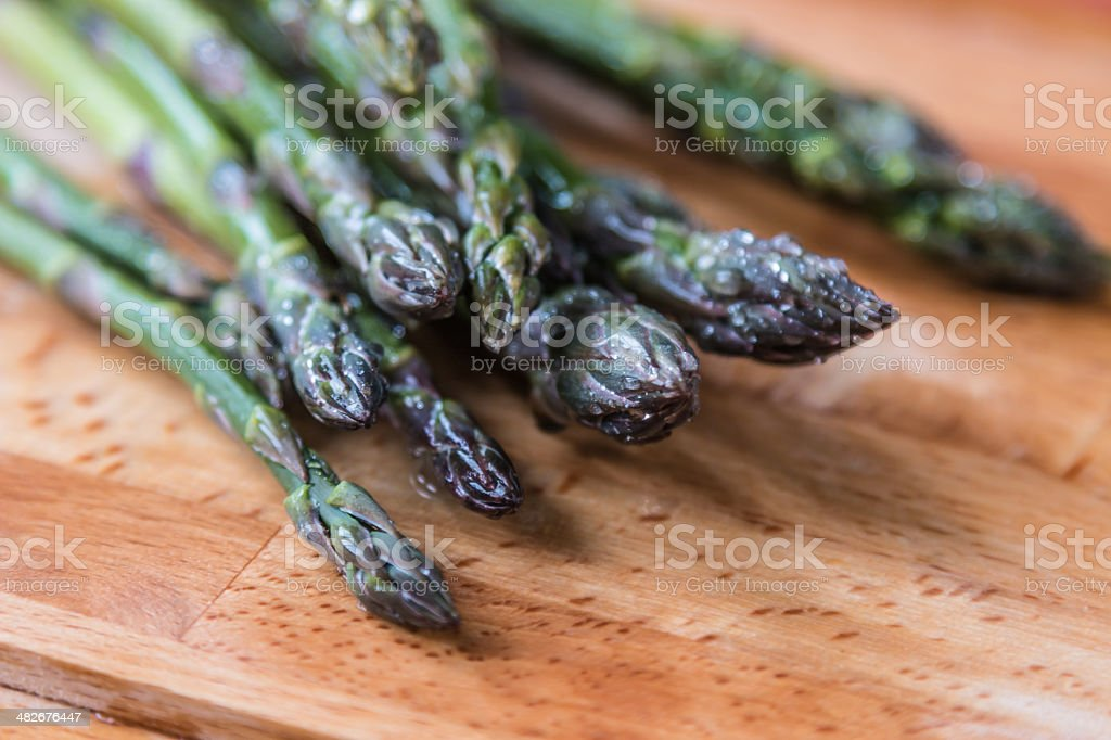 Wild asparagus stock photo